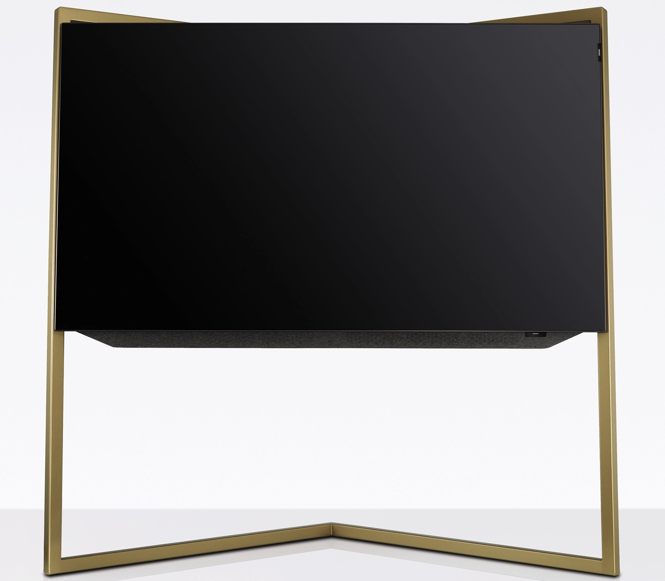 loewe bild mit floorstand amber gold fernseher. Black Bedroom Furniture Sets. Home Design Ideas