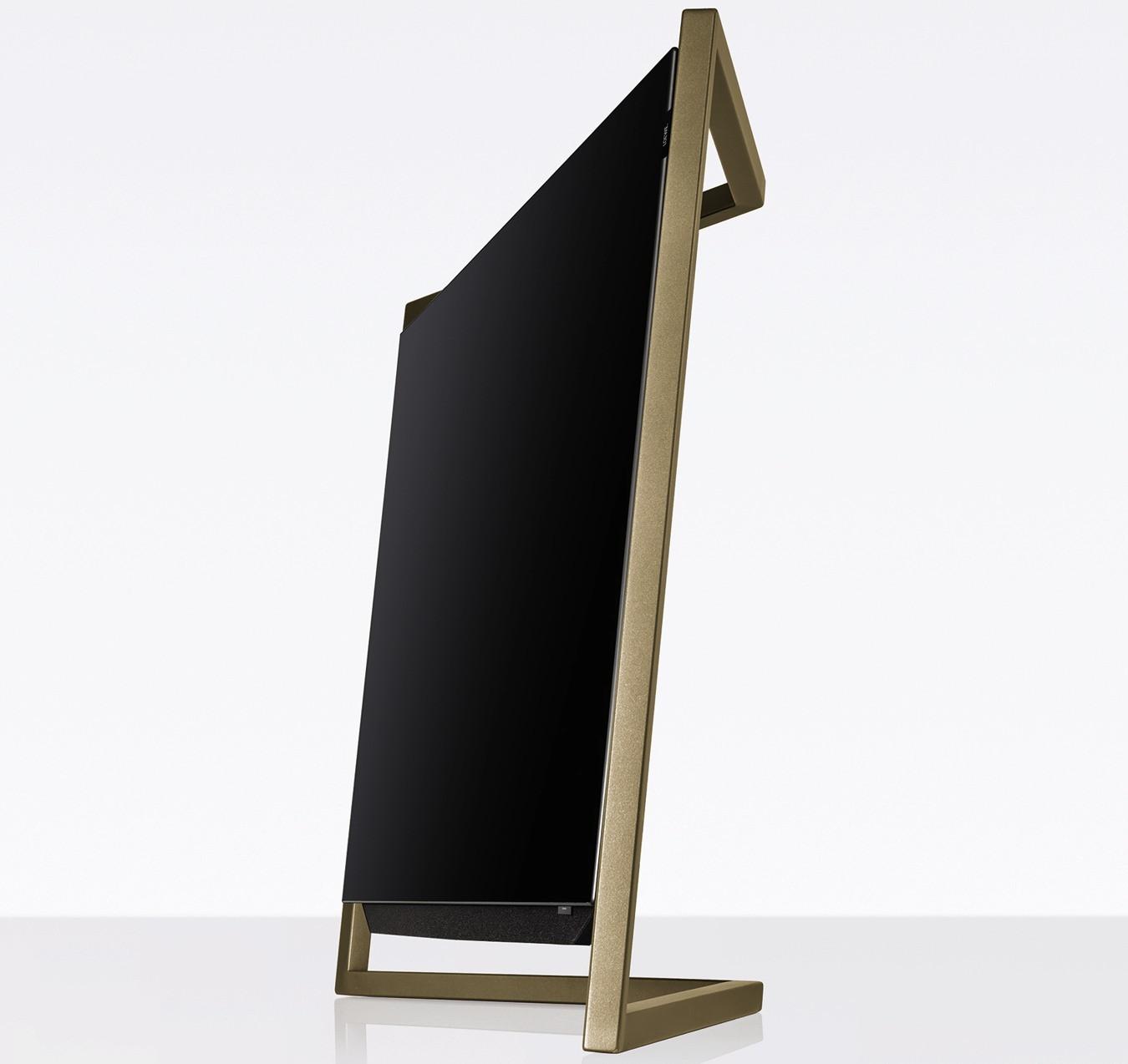 Loewe bild mit tablestand amber gold bild 9 oled for Extremer minimalismus