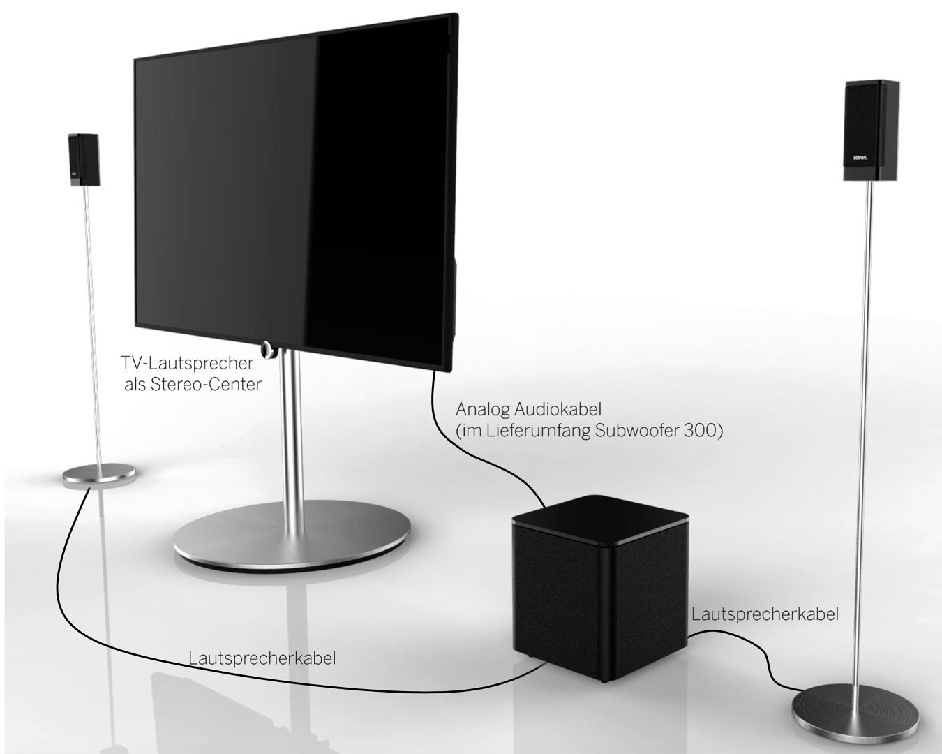 loewe klang1 subwoofer schwarz loewe fernseher. Black Bedroom Furniture Sets. Home Design Ideas